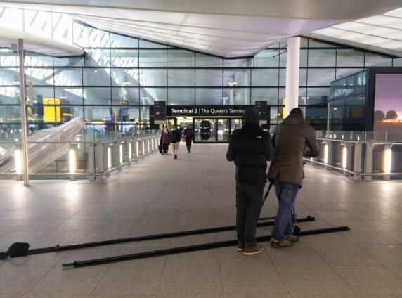 Heathrow Filming, Corporate Communications, Video Production, Big Yellow Feet, London & Surrey